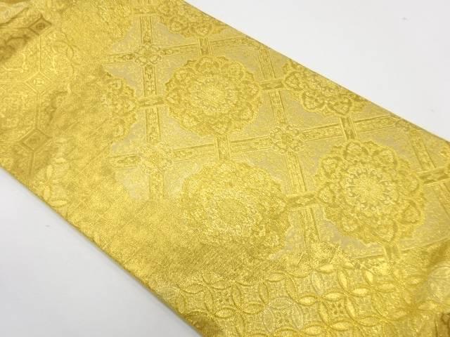 未使用品 華紋に古典柄模様織出し袋帯【リサイクル】【中古】