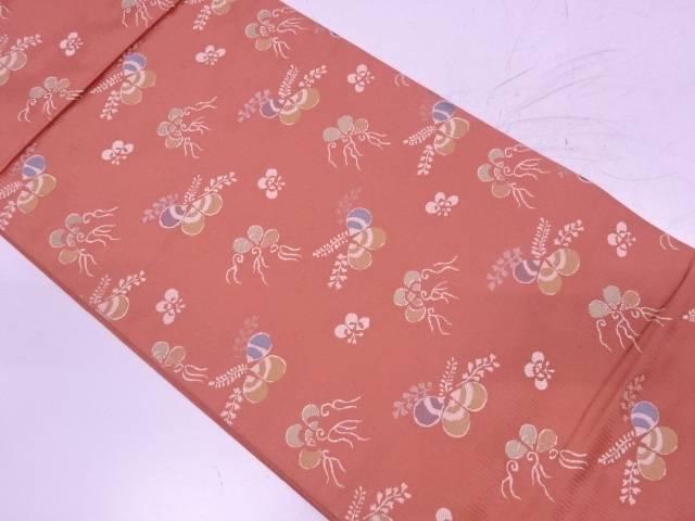 桐模様織出し袋帯【リサイクル】【中古】