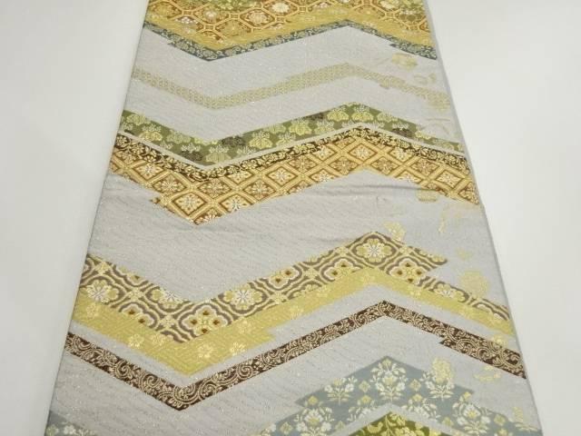 本金花に古典柄織出し袋帯 リサイクル4jARLq3c5