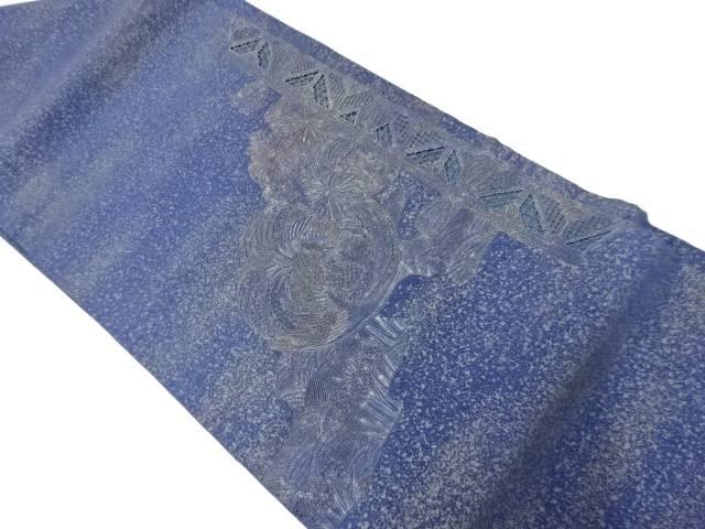 汕頭相良刺繍花鳥模様名古屋帯【リサイクル】【中古】