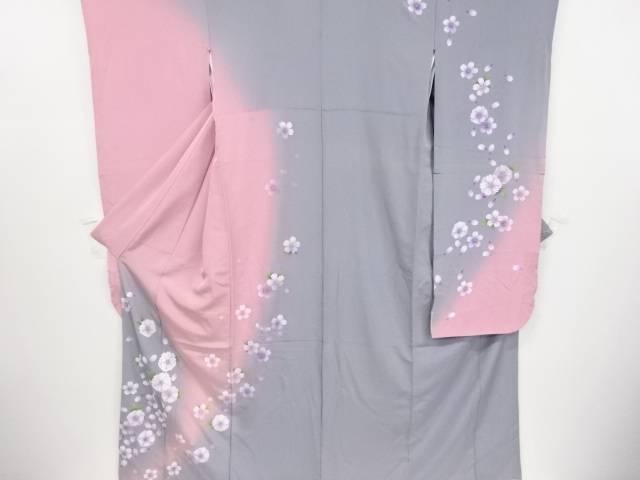 八重桜模様暈し振袖【リサイクル】【中古】