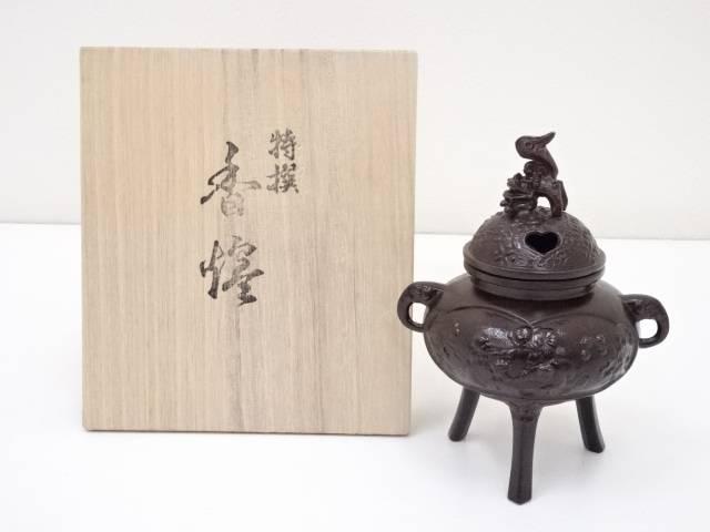 鋳銅香炉セット(共箱)