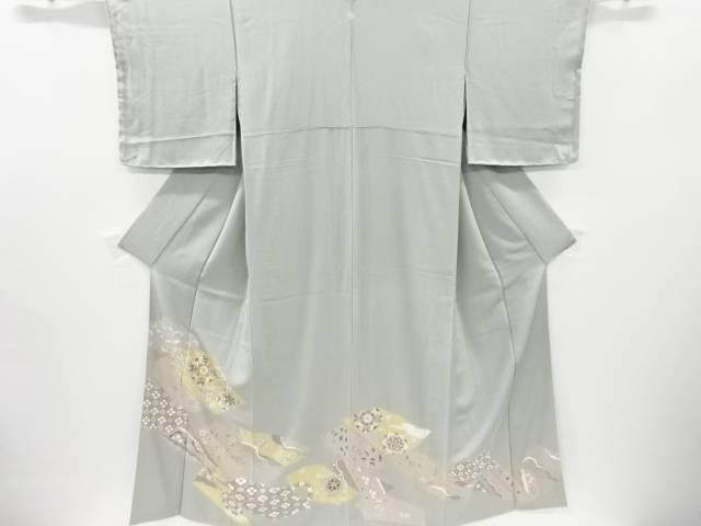 未使用品 金彩変わり色紙に華紋・古典柄刺繍一つ紋色留袖【リサイクル】【中古】