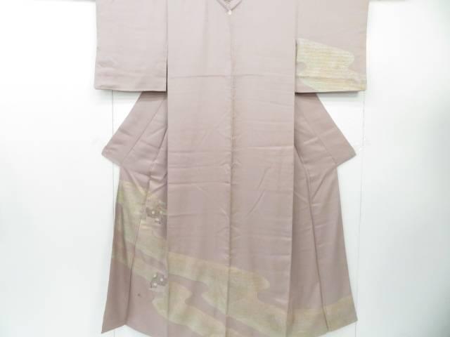 訪問着 刺繍 霞取りに観世水と鎧おどし文 着物【リサイクル】【中古】
