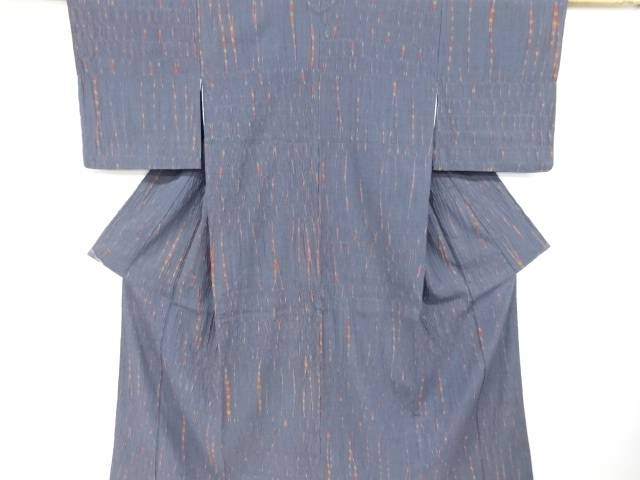 板締め絞り手織り紬着物【リサイクル】【中古】