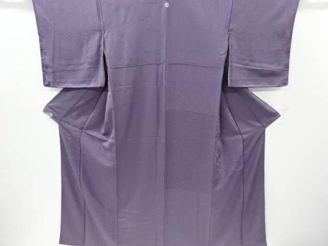 古典柄織り出し一つ紋色無地着物【リサイクル】【中古】