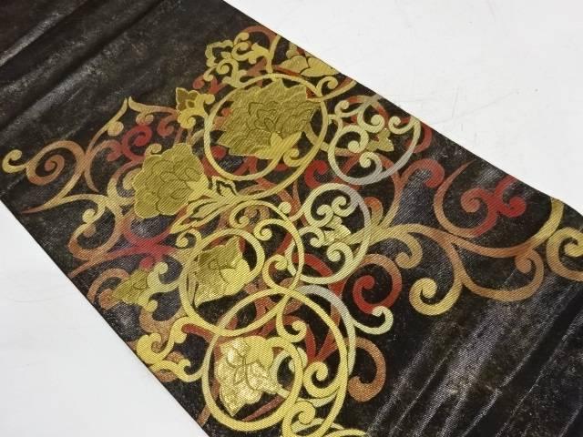 川島織物製 本金花唐草模様袋帯【リサイクル】【中古】
