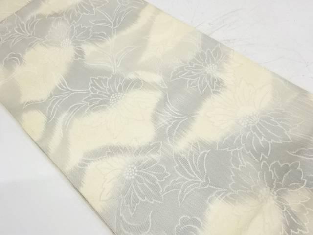 合計3980円以上の購入で送料無料 草花模様織出し暈し袋帯 リサイクル アウトレットセール 特集 中古 ※アウトレット品
