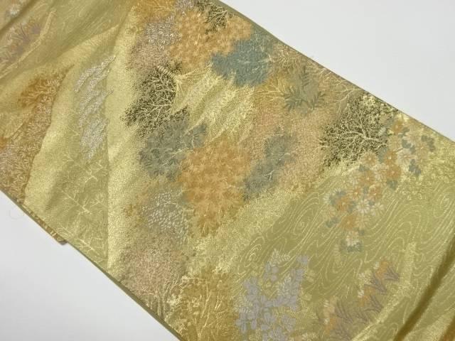本金二重箔秋景色模様織出し袋帯【リサイクル】【中古】