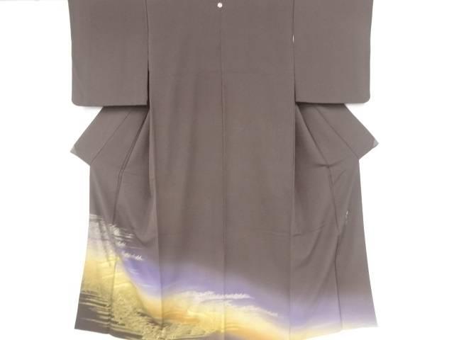 和田光正作 金彩小舟に草葉模様一つ紋色留袖【リサイクル】【中古】