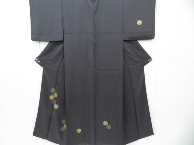 付下げ 金駒刺繍 菱に七宝文 着物【リサイクル】【中古】