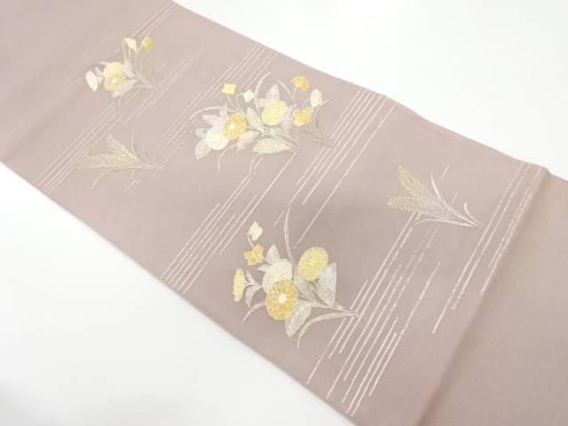 未使用品  紗 金彩草花模様袋帯【リサイクル】【中古】