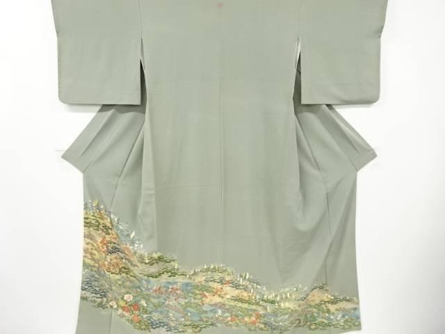 手描友禅松竹梅に牡丹模様一つ紋色留袖【リサイクル】【中古】