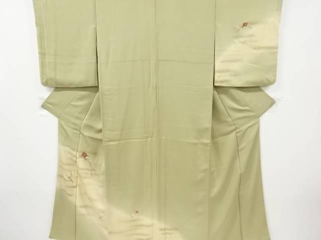 合計3980円以上の購入で送料無料 霞に枝梅 椿模様刺繍訪問着 店内全品対象 リサイクル 中古 ついに入荷