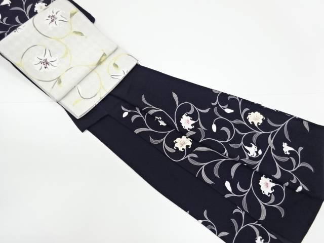 SEIKO MATSUDA 百合唐草模様訪問着袋帯セット【リサイクル】【中古】