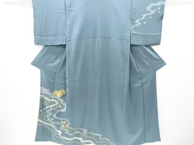 新商品 合計3980円以上の購入で送料無料 絞り流水に菊梅模様刺繍訪問着 中古 リサイクル オンラインショッピング