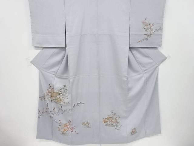 未使用品 蘇州刺繍寺院に橘・枝梅・松模様訪問着【リサイクル】【中古】