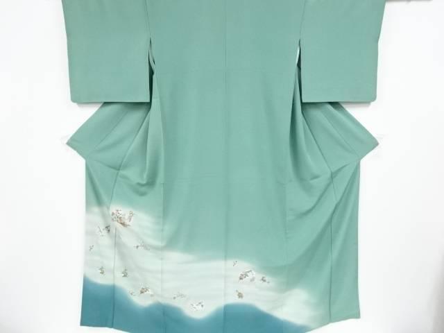 屏風に牡丹菊模様刺繍色留袖【リサイクル】:Kimono-Shinei 2号店