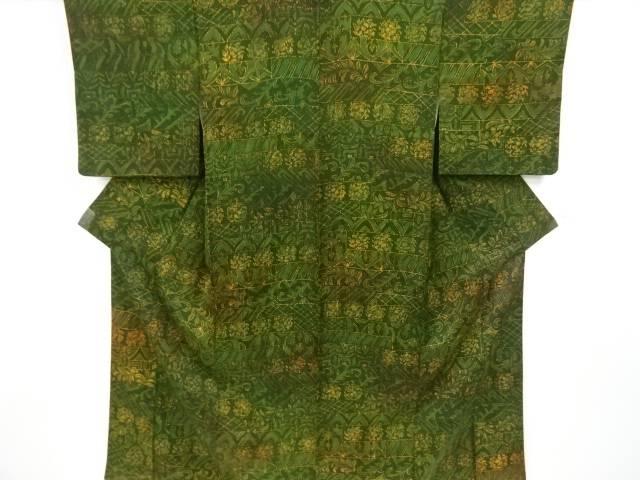 合計3980円以上の購入で送料無料 日本メーカー新品 変わり横段に草花模様小紋着物 激安通販 中古 リサイクル