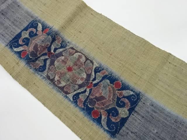 合計3980円以上の購入で送料無料 買物 日時指定 手織り紬抽象模様織出し名古屋帯 中古 リサイクル