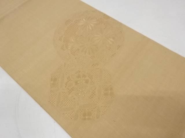 2020秋冬新作 ショッピング 合計3980円以上の購入で送料無料 手織り紬汕頭相良刺繍絵皿に花模様袋帯 中古 リサイクル