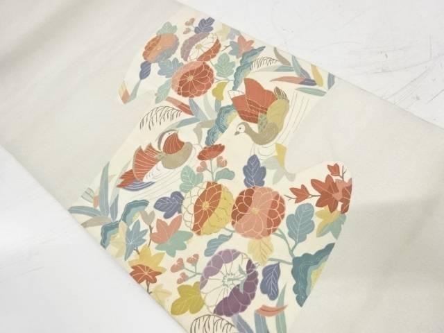合計3980円以上の購入で送料無料 綴れ霞に花鳥模様織出し袋帯 中古 セール品 リサイクル 本日の目玉