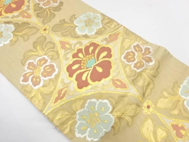 開店祝い 合計3980円以上の購入で送料無料 草花模様織出し袋帯 NEW売り切れる前に☆ リサイクル 中古