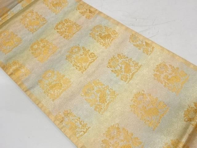 合計3980円以上の購入で送料無料 花兎模様織出し袋帯 リサイクル 中古 メーカー在庫限り品 プレゼント