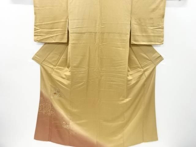 合計3980円以上の購入で送料無料 枝椿模様刺繍訪問着 リサイクル 値下げ 授与 中古