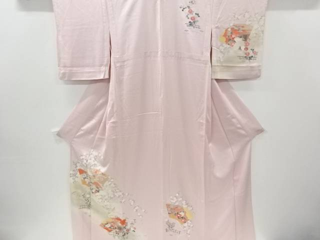合計3980円以上の購入で送料無料 評価 地紙に牡丹 菊模様単衣訪問着 中古 日本限定 リサイクル