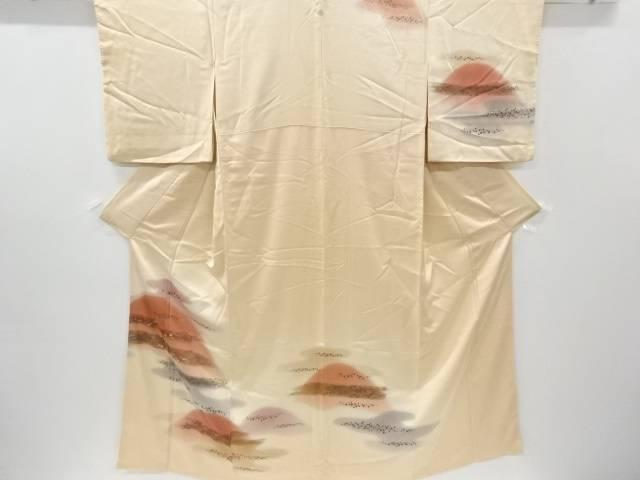 合計3980円以上の購入で送料無料 霞に草花模様刺繍一つ紋訪問着 重ね衿付き 中古 新品未使用正規品 リサイクル ブランド買うならブランドオフ