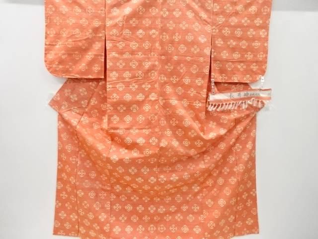合計3980円以上の購入で送料無料 NEW売り切れる前に☆ 未使用品 仕立て上がり 抽象花模様織り出し長井紬着物 お気に入