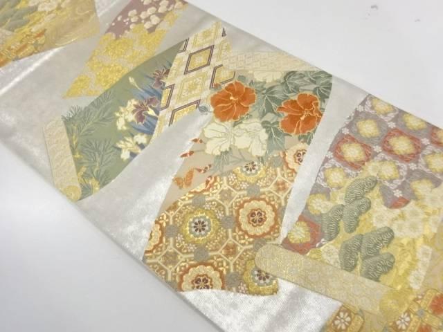 合計3980円以上の購入で送料無料 本物◆ 瑞華巻絵文織出し袋帯 リサイクル 中古 賜物