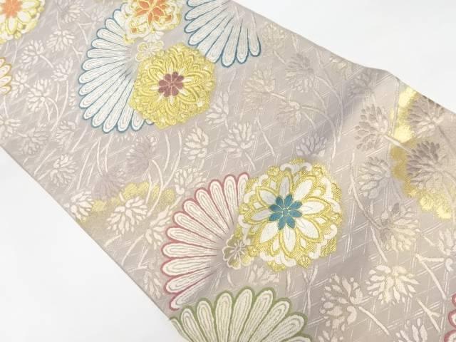 合計3980円以上の購入で送料無料 錦織り引箔抽象花模様織り出し袋帯 リサイクル 中古 売れ筋ランキング 数量は多