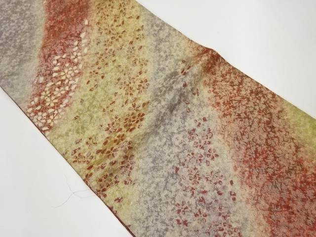 合計3980円以上の購入で送料無料 桜吹雪模様織出し袋帯 安値 中古 業界No.1 リサイクル