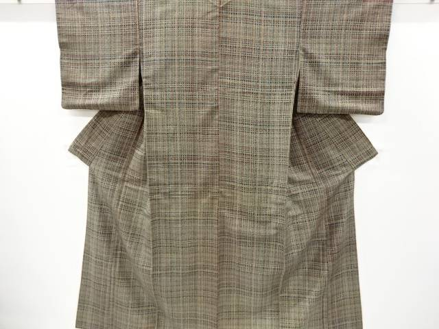 合計3980円以上の購入で送料無料 格子模様上代紬着物 ファッション通販 リサイクル 中古 永遠の定番