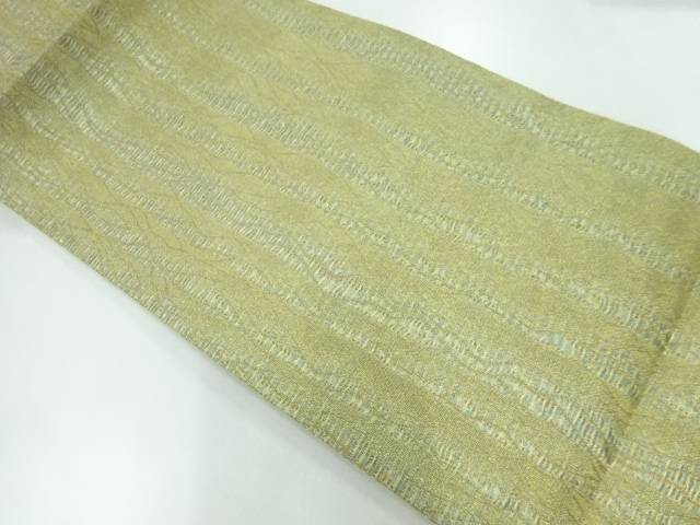 合計3980円以上の購入で送料無料 初回限定 草野一騎 売買 すくい織変わり縞模様織出し袋帯 リサイクル 中古