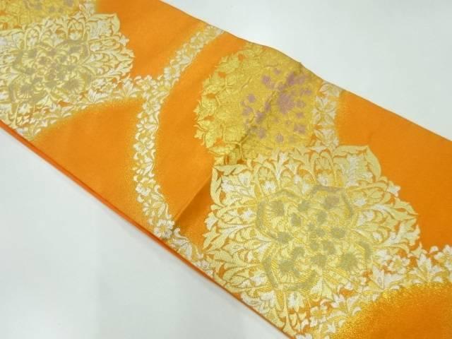 合計3980円以上の購入で送料無料 公式通販 未使用品 川島織物製 中古 世界の人気ブランド 花模様織出し袋帯 リサイクル
