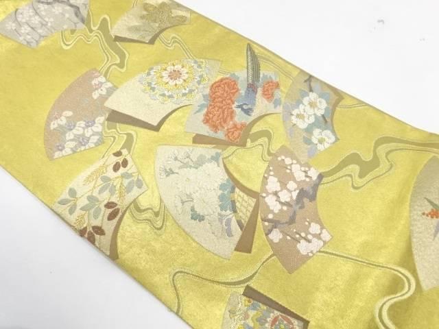 合計3980円以上の購入で送料無料 地紙に花鳥模様刺繍袋帯 国内即発送 中古 物品 リサイクル