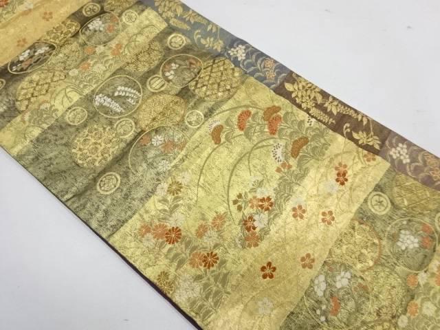 合計3980円以上の購入で送料無料 献上格子小袖絵文織出し袋帯 25%OFF 中古 ファクトリーアウトレット リサイクル