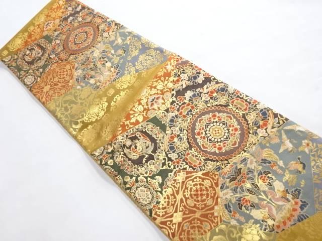 5☆好評 合計3980円以上の購入で送料無料 万葉平平紋様織り出し袋帯 大放出セール リサイクル 中古