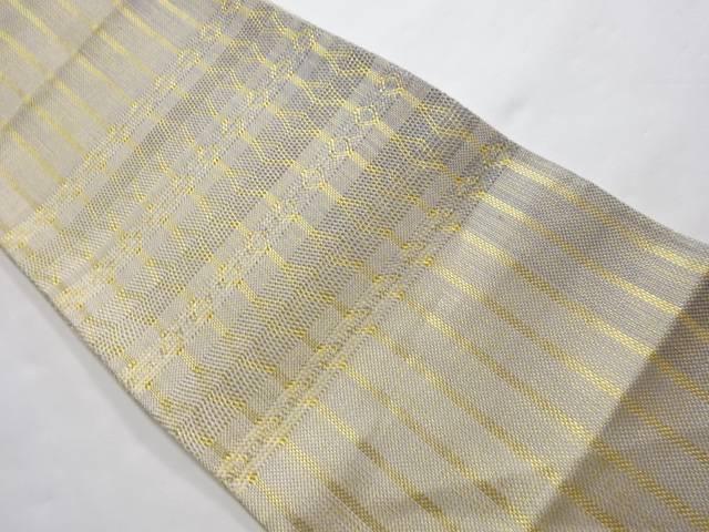 合計3980円以上の購入で送料無料 縞模様織り出し袋帯 リサイクル 中古 正規逆輸入品 25%OFF