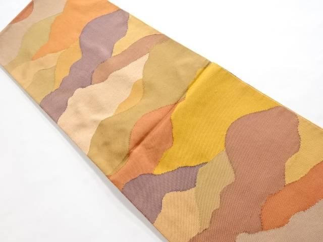 合計3980円以上の購入で送料無料 抽象霞模様織り出し紬全通袋帯 リサイクル 中古 お得セット AL完売しました