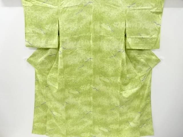 合計3980円以上の購入で送料無料 木立模様単衣小紋着物 中古 リサイクル 新品 出色
