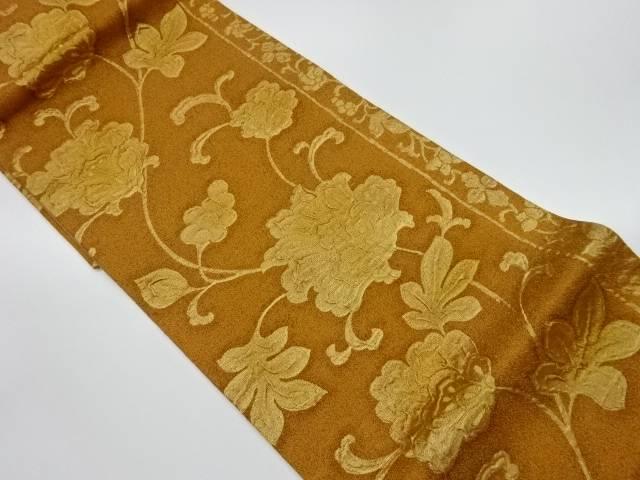 合計3980円以上の購入で送料無料 ふくれ織花唐草模様織出し袋帯 リサイクル 最安値挑戦 中古 国際ブランド