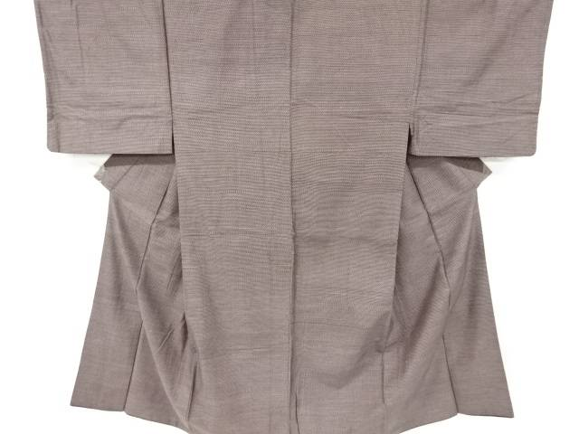 合計3980円以上の購入で送料無料 横段織り出し手織り紬男物着物 アンティーク 国内正規総代理店アイテム 中古 メーカー公式
