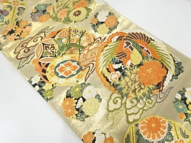 合計3980円以上の購入で送料無料 買い取り 瑞宝錦稜錦織出し袋帯 中古 公式ストア リサイクル