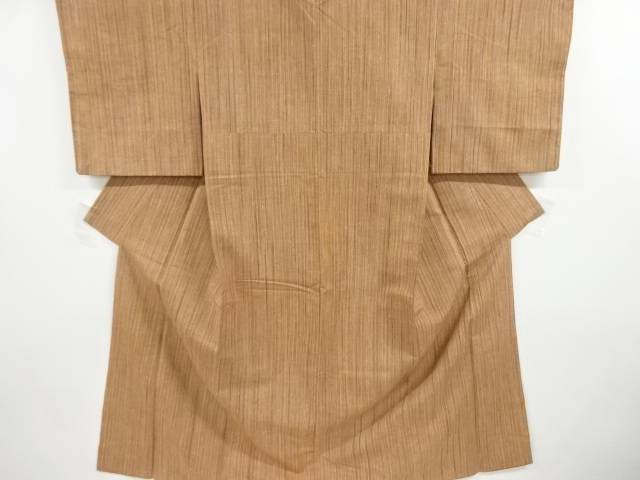 合計3980円以上の購入で送料無料 キャンペーンもお見逃しなく 縞織り出し手織り真綿紬着物 中古 品質保証 リサイクル