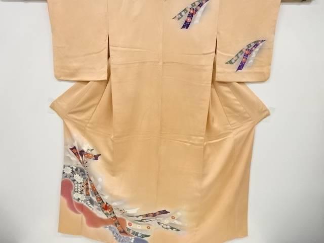 合計3980円以上の購入で送料無料 束ね熨斗に花模様刺繍訪問着 バーゲンセール 店内全品対象 リサイクル 中古