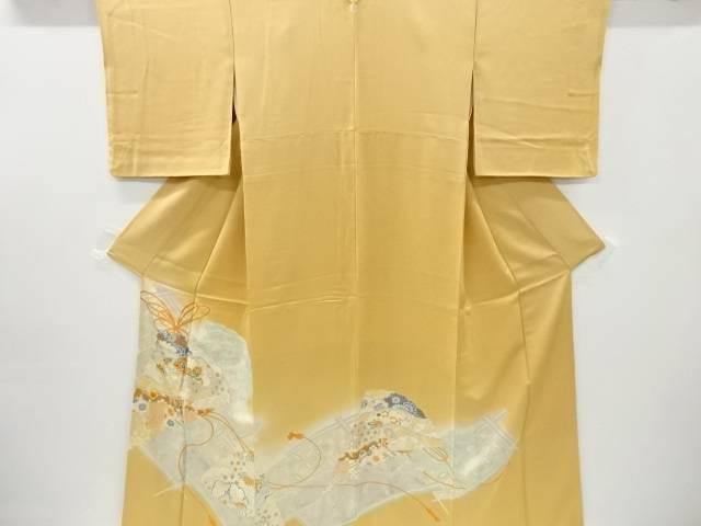 合計3980円以上の購入で送料無料 トラスト 檜扇に幕 松模様刺繍一つ紋色留袖 誕生日プレゼント 比翼付き 中古 リサイクル